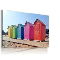 BEACH HOLIDAY BOXES OCEAN View Canvas Wall Art Picture Large L236 X MATAGA