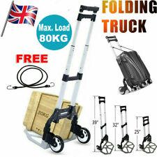 80KG Heavy Duty Light Folding Foldable Hand Sack Truck Barrow Cart Trolley Black