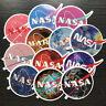 12Pcs Vinyl NASA Sticker Bomb Skateboard Luggage Laptop Phone Guitar Decals Dope