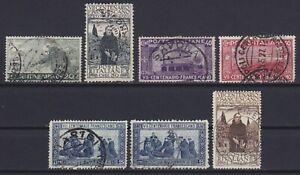 Regno 1926 San Francesco serie di 7 valori usata US n.192-199 (manca il n.196)