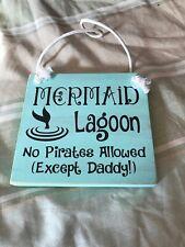 Mermaid Lagoon Wooden Nursery Girl's Room Door Sign