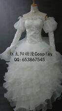 Code Geass Euphemia White Luxury Lace Dress Cosplay Costume