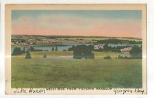 Greetings from VICTORIA HARBOR ON Georgian Bay Vintage Ontario Canada Postcard