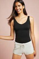 New Anthropologie Eloise Seamless Reversible Tank Top Cami Womens L Black $24