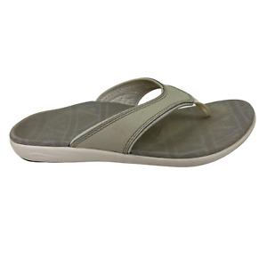 Spenco Yumi Orthotic Comfort Vegan Thong Flip Flop Sandals Women's Size 6 Gray