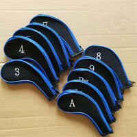 10pcs Golf Iron Head Cover Zipper Headcover For Callaway Taylormade Ping Cobra