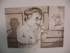 "Art print Charles Bragg artist black Lithograph ""Tort"" Duotone Signed"