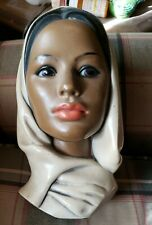 Vintage 1960's Woman Head Bust Marwal North African American Morocco Middle East