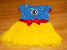 Infant Size 12 Months Disney Princess Snow White Casual Costume Dress Yellow GUC