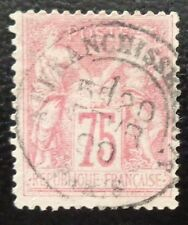 France oblitéré, n°81, 75c rose, Sage type 2, 1885