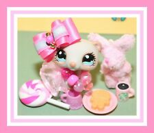 ��Authentic Playful Paws Littlest Pet Shop Lps #1172 Ferret Weasel Gray Peach��