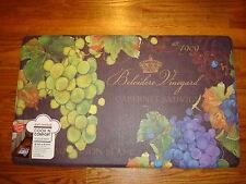 Anti Fatigue PVC Foam Kitchen Floor Mat Rug 18 x 30 Wine Grapes Napa Vineyard