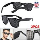 2PCS Pinhole Glasses Small Holes Vision Correction Eyes Exercise Anti-Myopia USA