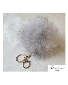 Portachiavi in vera pelliccia VOLPE FOX fur keychain POMPON Porte-clés renard