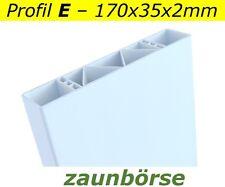 Zaunbretter E (170x35x2mm)weiss L=74cm Profiware PVC-Balkon Vorgartenzaun Koppel