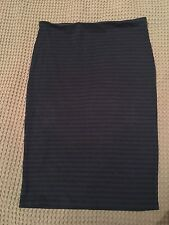 Target Size 12 Womens Black Navy Striped Skirt Above Knee Ladies Stretchy