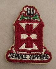 "1960'S ARMY PATCH 106TH MEDICAL BATTALION 31ST INF DIV UNIT COTTON CE 2 1/2""T"