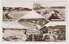 Cornwall postcard - Falmouth (Multiview showing 5 views) - RP