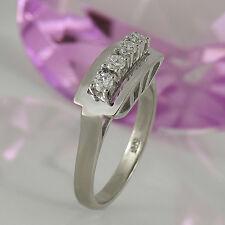 Anillo goldring vintage 585 trébol 14k 4 diamantes ca 0,28 CT Wesselton si talla 54