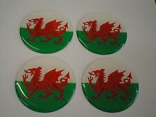 50mm (U10) Alloy Wheel Center Centre Badges Wales Welsh Dragon Flag