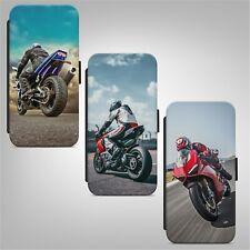 Motorbike Motorcycle Bike FLIP WALLET PHONE CASE COVER FOR IPHONE SAMSUNG HUAWEI
