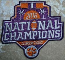 "Clemson Tigers Champions 3.5"" Iron On Embroidered Patch ~FREE Ship`!!"