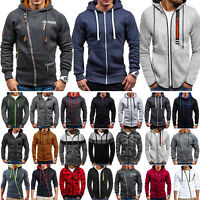 Mens Winter Warm Zip-Up Hoodie Hooded Tops Outwear Jacket Sweatshirt Coats M-3XL