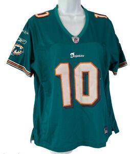 Reebok On Field NFL Miami Dolphins Chad Pennington Football Jersey Womens Sz L