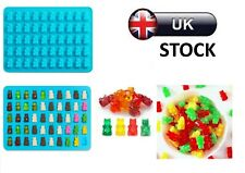 50 Cavity Silicone Gummy Bear Mould Chocolate Mold Sweet Jelly Ice Cube Tray DIY
