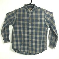 Duluth Mens XL Blue Plaid Free Swingin' Long Sleeve Button Front Flannel Shirt