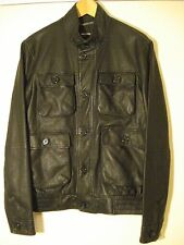 MICHAEL KORS GENTS BLACK REAL LEATHER JACKET SIZE M,100% AUTHENTIC, RRP £780
