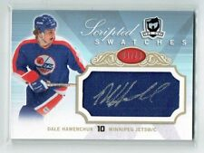 07-08 UD The Cup Scripted Swatches  Dale Hawerchuk  1/25  First Card  HOF