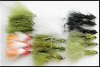 Gold Head Trout Flies, 18 Pack, Lures,Budgie,Damsels,Cats Whiskers, Etc, Size 10