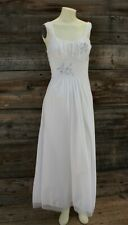 Vintage Vanity Fair White Slip Dress w Little Pink Roses Size 34