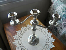 Victorian Chased Gorham Sterling 11.5 Inches Tall 3 Light Candelabra 890