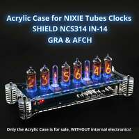 Acrylic Case for IN-14 Arduino Shield Nixie Tubes Clocks [GRA & AFCH]