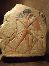 Egyptian art / sculpture - Bast cat - Tadukhippa & the sculptor. Relief carving