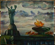 Russian Ukrainian Soviet Painting Impressionism Motherland monument Kiev statue
