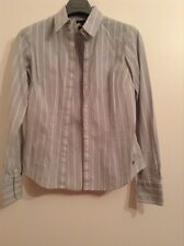 Pre-Loved 100% Auth By Tommy Hilfiger, Ladies  Striped, Office Shirt. 4/ UK 6