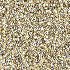 Miyuki Delica Seed Beads Size 11/0 Duracoat Galvanized Silver 7.2g-Tube (DB1831)