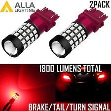 Alla Lighting 51-LED Brake/Tail/Rear Turn Signal Light Bulb Blinker Lamp,Red 2x