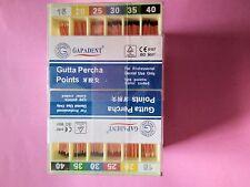 5 Packs Dental Gapadent Gutta Percha Points #15-40 Endodontics for Dental Use