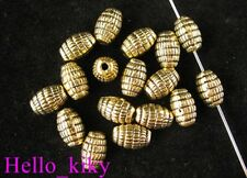 80pcs Antiqued gold plt oval barrel spacer beads A173
