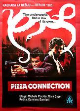 PIZZA CONNECTION 1985 MICHELE PLACIDO DAMIANO DAMIANI RARE EXYU MOVIE POSTER