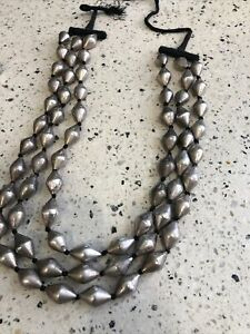 Magnificent Tribal Silver Beaded Necklace 110 Gms