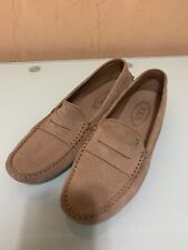 TOD'S Rubber Mocassin Light Brown Womens Size 11