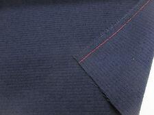 Azul Marino 100% Tela De Cortina De Lana Acanalada. producido en Yorkshire Inglaterra.