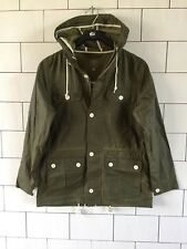 MENS URBAN VINTAGE RETRO GREEN CARHARTT HOODED CANNY JACKET COAT SIZE SMALL #29