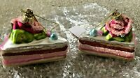 Katherine's Collection SWEET FROSTING LAYER CAKE slice Ornament Lot 2 Christmas