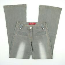 FACE OFF - Grey Flare Bootcut Stretch Denim Jeans Women's Size 8 W26 - Unique!